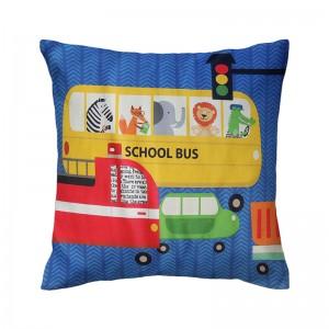 Capa de almofada infantil Coleção Rush azul