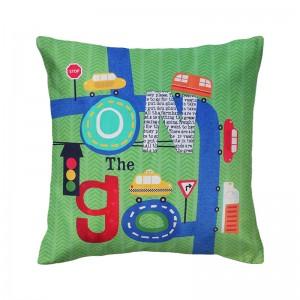 Capa de almofada infantil Coleção Rush verde
