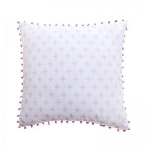Capa de almofada infantil cruz rosa