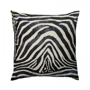 Capa de almofada suede zebra