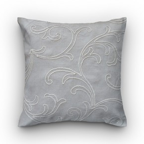 Capa de almofada bordado arabesco cru