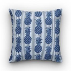Capa de almofada estampa abacaxi azul semi impermeável