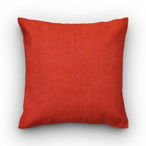 Capa de almofada liso linhão laranja
