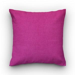 Capa de almofada liso linhão pink