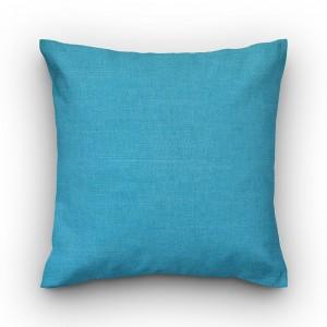 Capa de almofada liso linhão azul turquesa