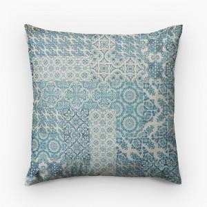 Capa de almofada geométrico azulejo português