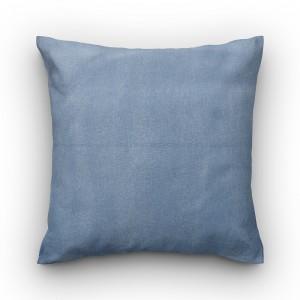 Capa de almofada liso azul jeans