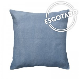 Capa de almofada azul jeans