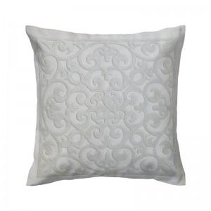Capa de almofada bordado arabesco bege