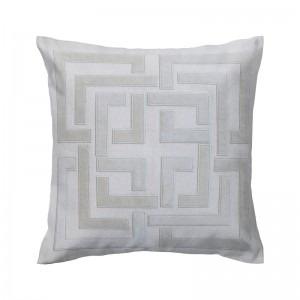 Capa de almofada bordado labirinto bege