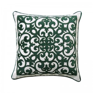 Capa de almofada bordado arabesco verde