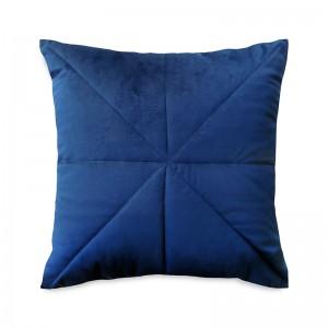 Capa de almofada bordado veludo azul marinho
