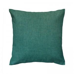 Capa de almofada linho liso verde