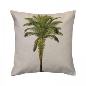 Capa de almofada linho rústico com palmeira