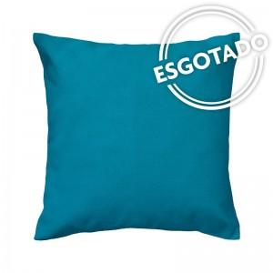 Capa de almofada liso acquablock azul