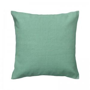 Capa de almofada liso linho verde