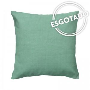 Capa de almofada linho verde claro