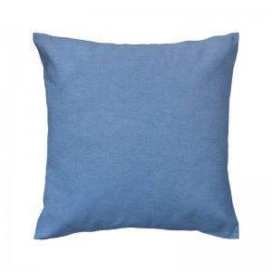 Capa de almofada liso lonita azul imperial