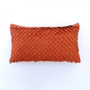 Capa de almofada rineira telha com escamas
