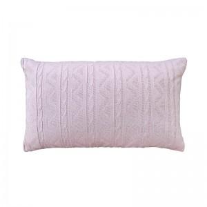 Capa de almofada rineira tricô duplada rosa