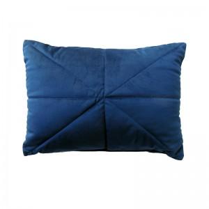 Capa de almofada rineira veludo azul marinho