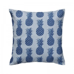 Capa de almofada semi impermeável abacaxi azul