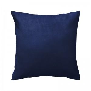 Capa de almofada suede azul marinho