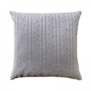 Capa de almofada tricô duplada cinza 40 x 40 cm