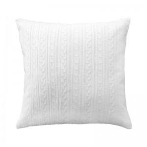 Capa de almofada tricô duplada off white 47 x 47 cm