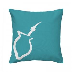 Capa de almofada azul Chimarrão - Coleção Ícones do Brasil (design exclusivo VivaIn)