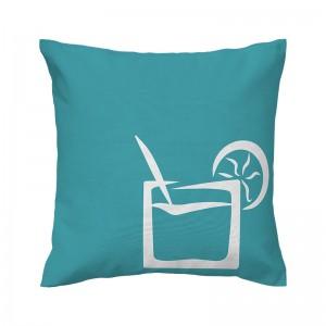 Capa de almofada azul Coquetel - Coleção Ícones do Brasil (design exclusivo VivaIn)