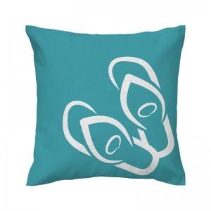 Capa de almofada azul Havaiana - Coleção Ícones do Brasil (design exclusivo VivaIn)