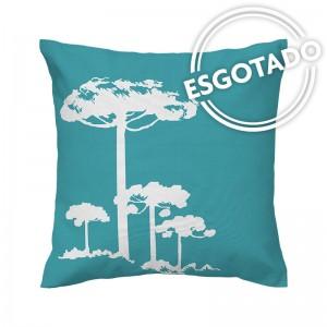 Capa de almofada azul Pinheiro Branco - Coleção Ícones do Brasil (design exclusivo VivaIn)