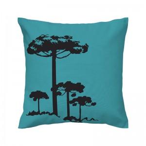 Capa de almofada azul Pinheiro Preto - Coleção Ícones do Brasil (design exclusivo VivaIn)