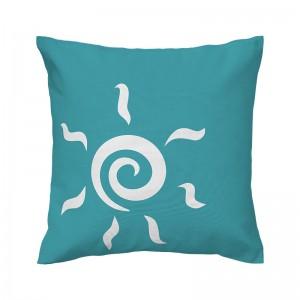 Capa de almofada azul Sol - Coleção Ícones do Brasil (design exclusivo VivaIn)