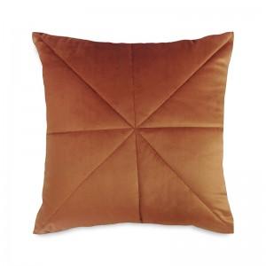 Capa de almofada bordado veludo terracota
