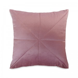 Capa de almofada bordado veludo rosê