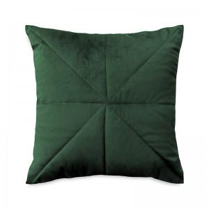 Capa de almofada bordado veludo verde