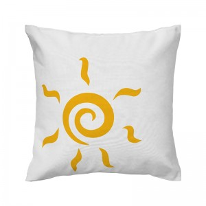 Capa de almofada branca Sol - Coleção Ícones do Brasil (design exclusivo VivaIn)