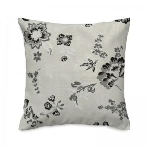 Capa de almofada floral linho rústico