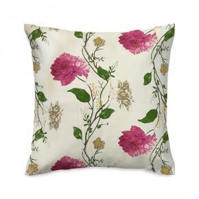 Capa de almofada floral rosa e amarelo
