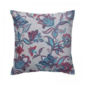Capa de almofada floral turquesa semi impermeável