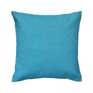 Capa de almofada linhão azul turquesa