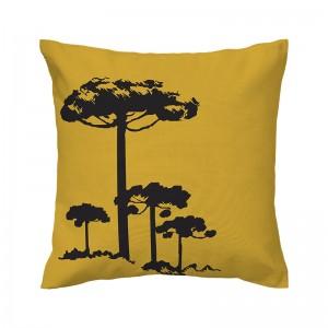 Capa de almofada mostarda Pinheiro Preto - Coleção Ícones do Brasil (design exclusivo VivaIn)