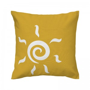 Capa de almofada mostarda Sol - Coleção Ícones do Brasil (design exclusivo VivaIn)