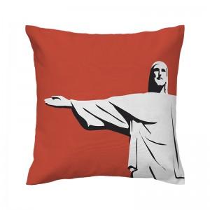 Capa de almofada papaya Cristo - Coleção Ícones do Brasil (design exclusivo VivaIn)