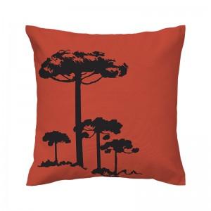 Capa de almofada papaya Pinheiro Preto - Coleção Ícones do Brasil (design exclusivo VivaIn)