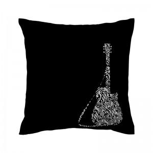 Capa de almofada preta Guitarra - Coleção Música (design exclusivo VivaIn)