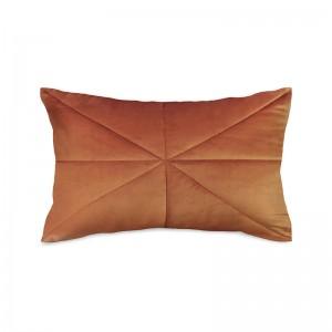 Capa de almofada rineira veludo matelassê terracota