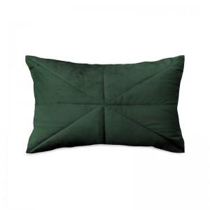 Capa de almofada rineira veludo matelassê verde
